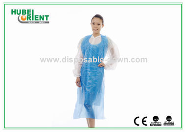 Watertightness Polyethene White Disposable Aprons Plastic Coated Aprons